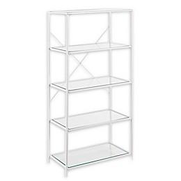 Southern Enterprises Prescott 3-Tier Bookshelf in White