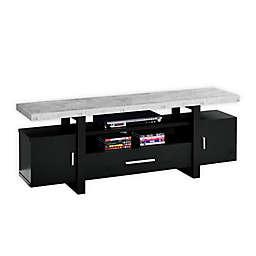 Monarch Specialties 60-Inch Cement-Look Top TV Stand