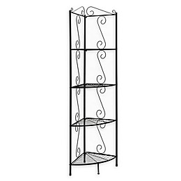 Monarch Specialties 70-Inch Corner Metal Étagère Bookcase