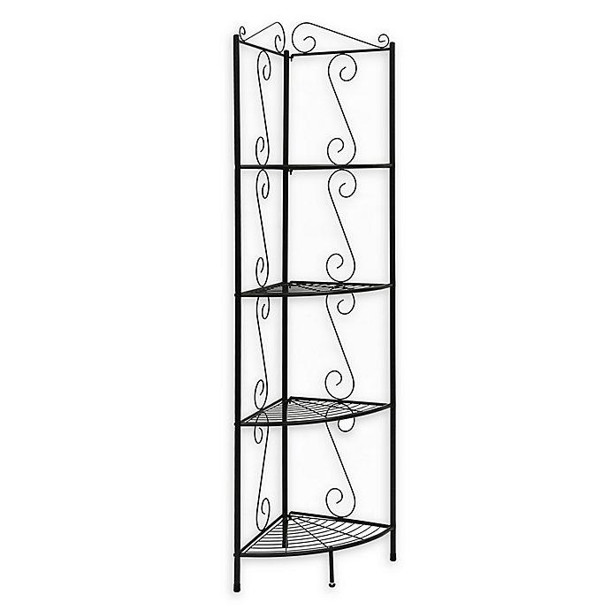 Alternate image 1 for Monarch Specialties 70-Inch Corner Metal Étagère Bookcase