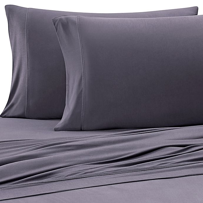 Alternate image 1 for Purple® Solid Viscose Made From Bamboo King/California King Sheet Set in Slate Grey