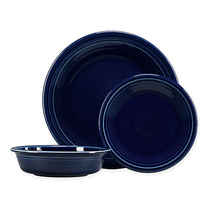 Alternate image 1 for Fiesta® 3-Piece Classic Place Setting in Cobalt Blue