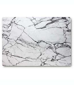 Mantel plastificado con diseño marmoleado en gris