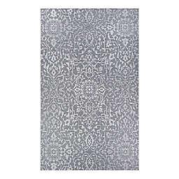 Couristan® Palmette 7'6 x 10'9 Indoor/Outdoor Area Rug in Grey/Ivory