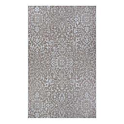 Couristan® Palmette 3'9 x 5'5 Indoor/Outdoor Area Rug in Mushroom/Ivory
