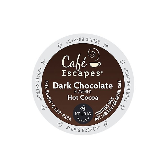 Alternate image 1 for Café Escapes® Dark Chocolate Hot Cocoa Keurig® K-Cup® Pods 16-Count