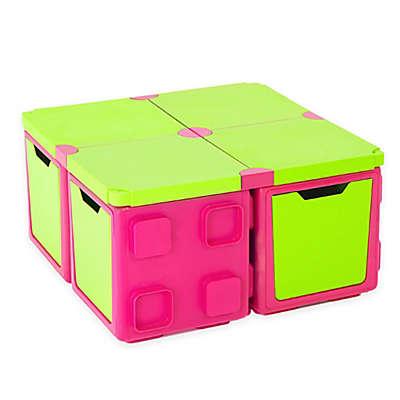 Chillafish® BOX 16-Piece Modular Play and Storage Table Set