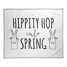 """Designs Direct """"Hippity Hop Into Spring"""" Fleece Throw Blanket"""