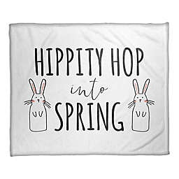 "Designs Direct ""Hippity Hop Into Spring"" Fleece Throw Blanket"