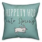 "Designs Direct ""Hippity Hop Into Spring"" Throw Pillow"