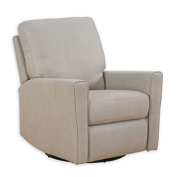 Fabric Swivel Rocker Recliner In Dove Grey View A Larger Version Of This Product Image