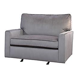 Abbyson Living® Landon Velvet Glider in Grey
