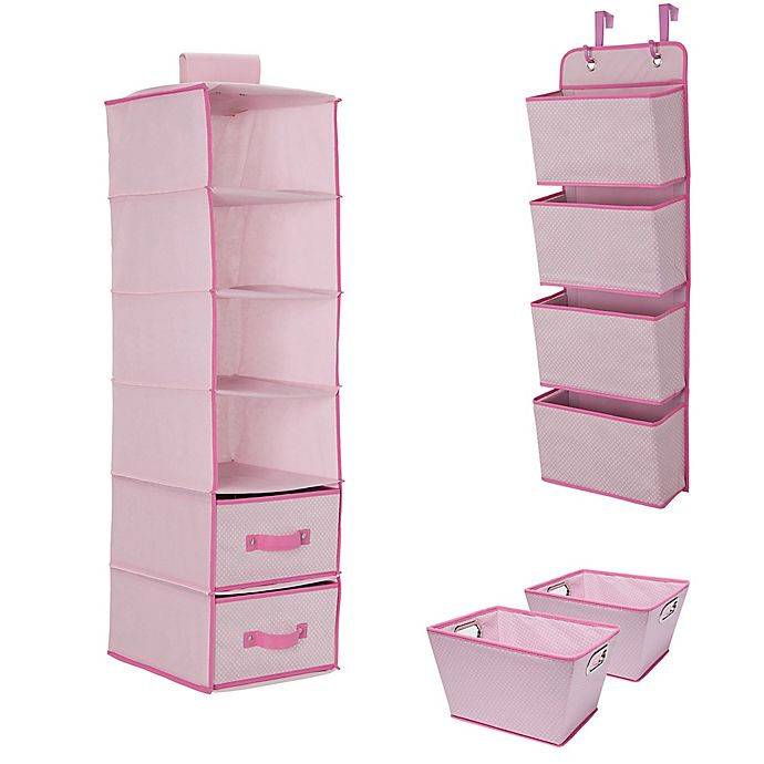Alternate image 1 for Delta Children 3-Piece Complete Nursery Organization Set in Pink