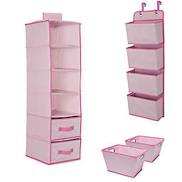 Delta Children 3-Piece Complete Nursery Organization Set in Pink