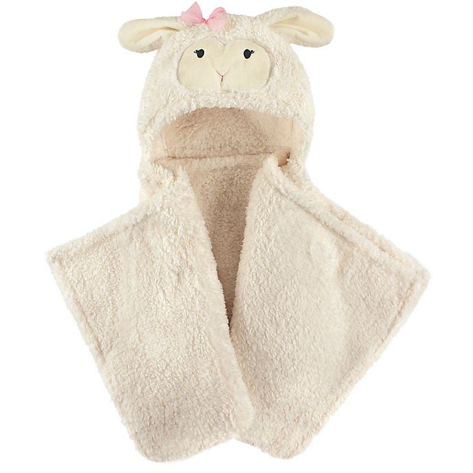 Alternate image 1 for Hudson Baby® Lamb Plush Hooded Blanket in White