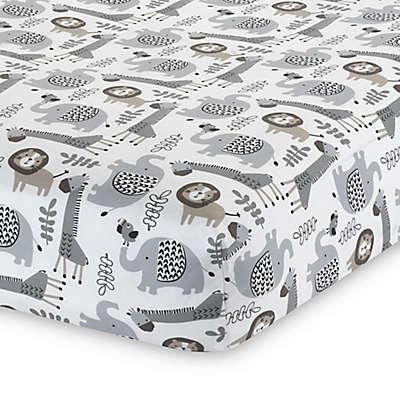 Lambs & Ivy® Urban Jungle Animal Print Fitted Crib Sheet