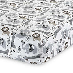 Lambs & Ivy® Urban Jungle Animal Print Fitted Crib Sheet