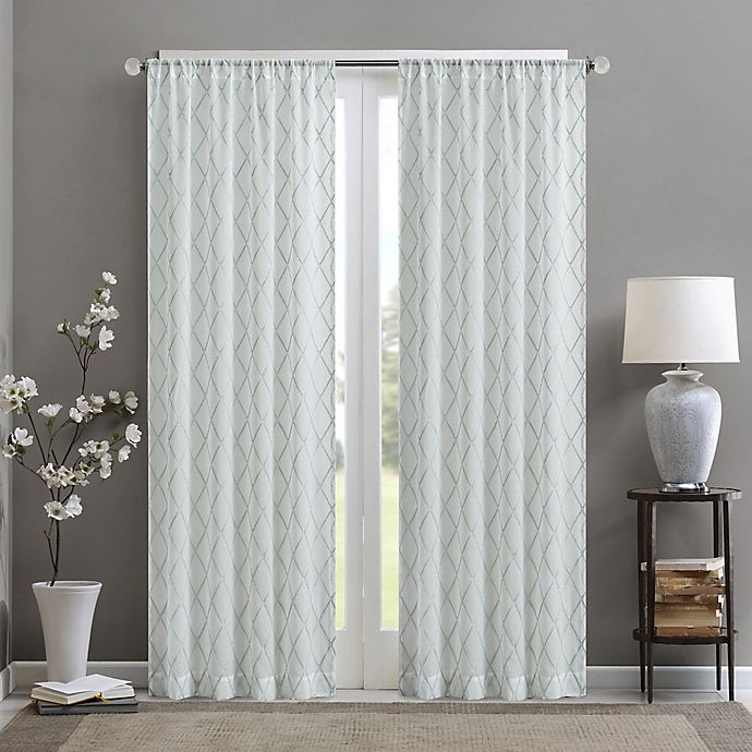 Madison Park Irina Diamond Sheer 95-Inch Rod Pocket Window