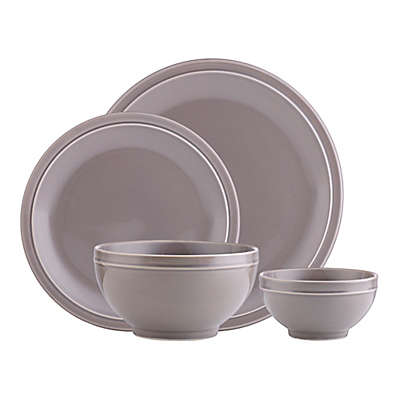 Godinger Culinara 16-Piece Dinnerware Set in Grey