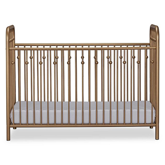 Alternate image 1 for Little Seeds Monarch Hill Ivy Metal Crib in Gold