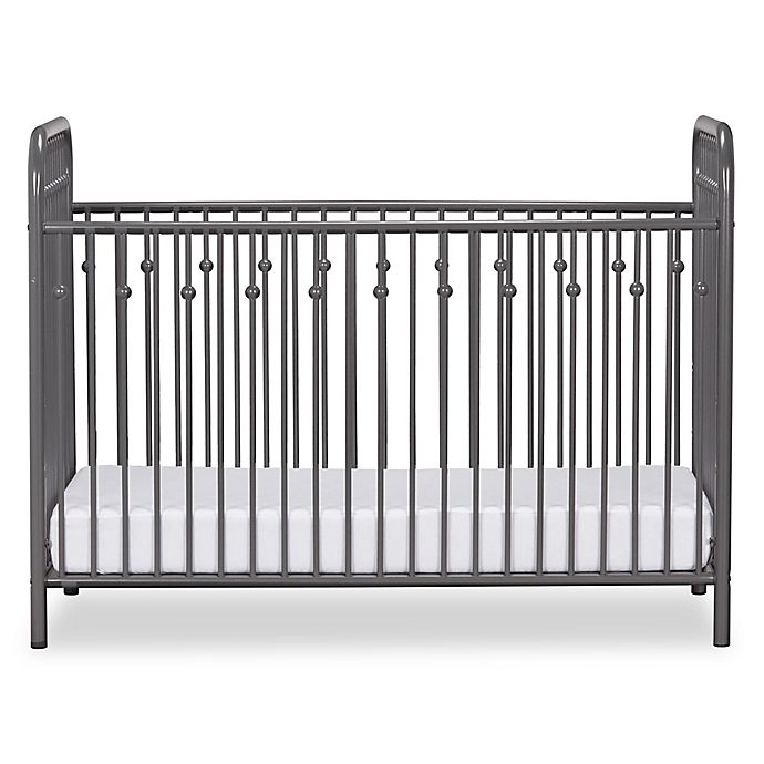 Alternate image 1 for Little Seeds™ Monarch Hill Ivy Metal Crib in Grey