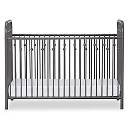 Little Seeds™ Monarch Hill Ivy Metal Crib in Grey