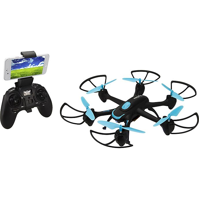 Alternate image 1 for Sky Rider Night Hawk Hexacopter Drone with Wi-Fi Camera in Black/Blue