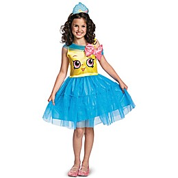 Shopkins Cupcake Queen Kid's Size Medium Halloween Costume in Blue/Yellow