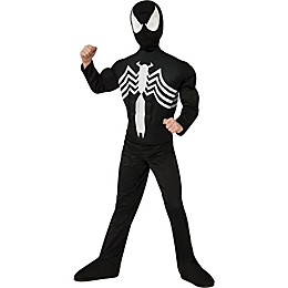 Marvel® Kids Ultimate Spiderman Muscle Halloween Costume in Black