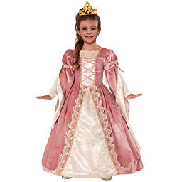 Victorian Rose Child's Halloween Costume Gown in Pink