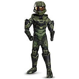 Master Chief Child's Halloween Costume in Green