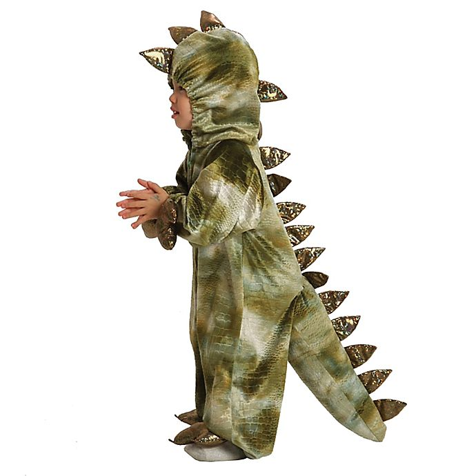 Alternate image 1 for T-Rex Baby/Toddler Halloween Costume in Brown/Green