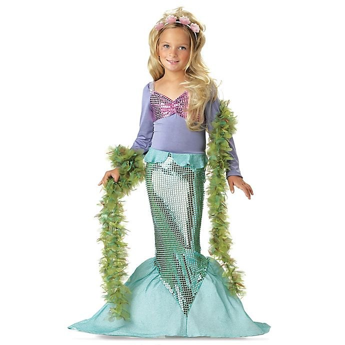 Alternate image 1 for Lil' Mermaid Size 3T-4T Toddler Halloween Costume in Purple/Green