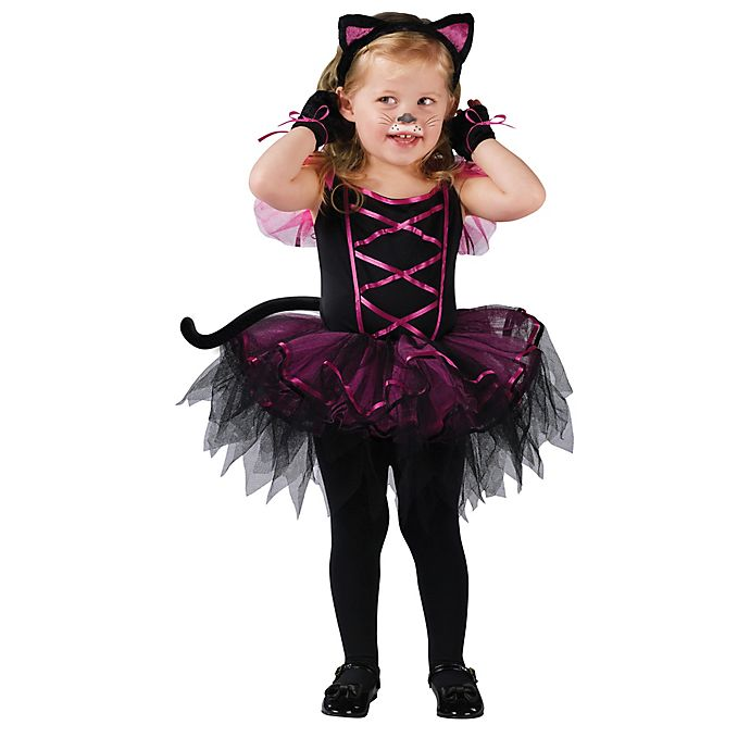 Alternate image 1 for Catarina Cat Toddler Halloween Costume in Black