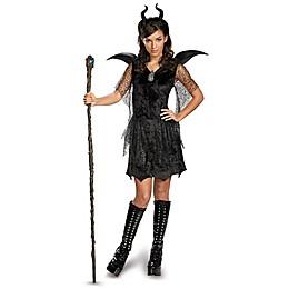 Disney® Maleficent Deluxe Teen Halloween Costume in Black