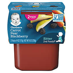 Gerber® 2-Pack 2nd Foods® Carrot, Pear, and Blackberry Veggies First™ Recipe Baby Food