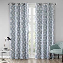 Blakesly Printed Ikat Grommet Top Room Darkening Window Curtain Panel
