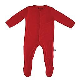 Kyte BABY Snap-Front Footie in Crimson