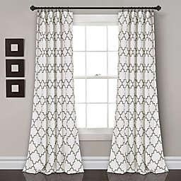 Bellagio 2-Pack 84-Inch Room Darkening Rod Pocket Window Curtain Panels in Grey
