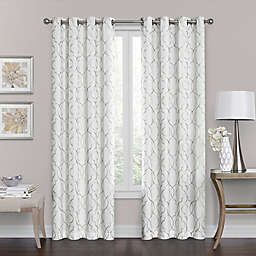Brent Grommet 100% Blackout  95-Inch Window Curtain Panel in White