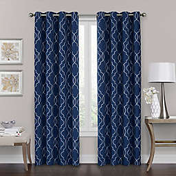 Brent Grommet 108-Inch 100% Blackout Window Curtain Panel in Navy