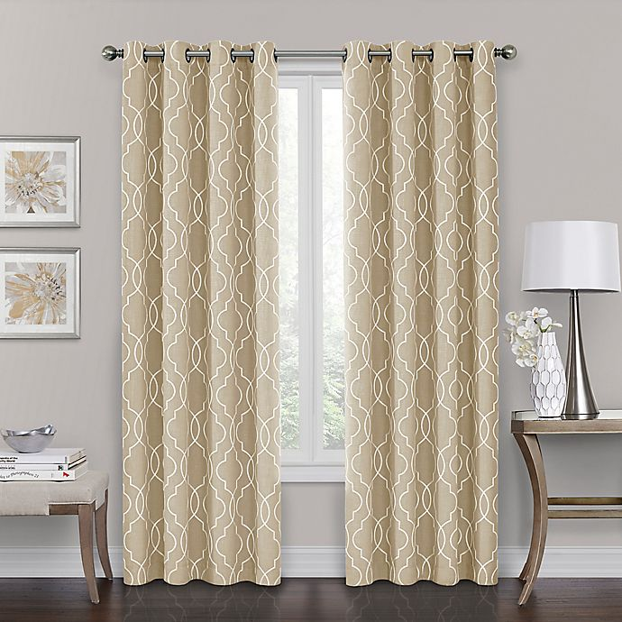 Alternate image 1 for Brent Grommet 100% Blackout 95-Inch Window Curtain Panel in Natural