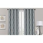 Brent Grommet 100% Blackout  63-Inch Window Curtain Panel in Silver Blue