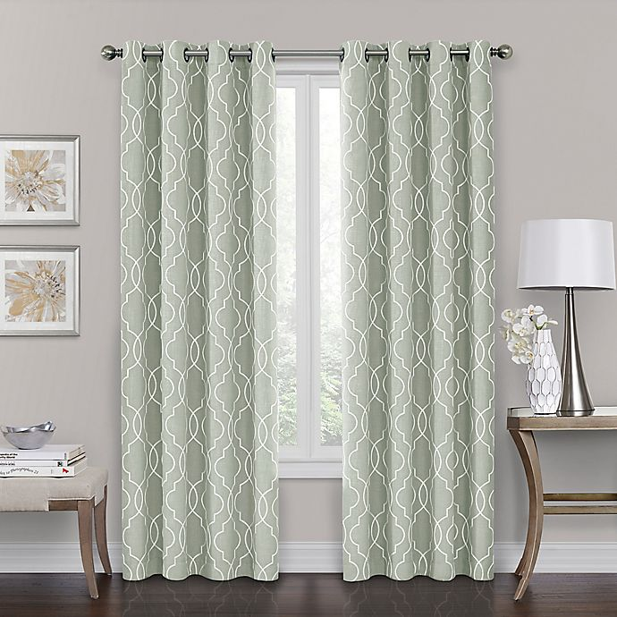 Alternate image 1 for Brent Grommet 108-Inch 100% Blackout Window Curtain Panel in Green