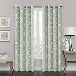 Brent Grommet 100% Blackout 84-Inch Window Curtain Panel in Green