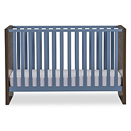 Sierra Ridge Terra Crib in Walnut/Blue