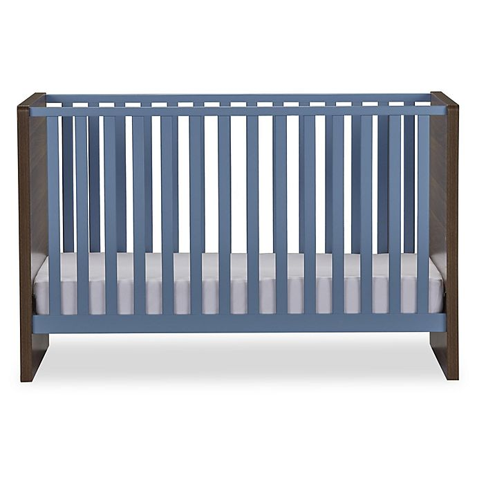 Alternate image 1 for Sierra Ridge Terra Crib in Walnut/Blue