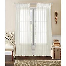 Laura Ashley® Whisper Pinch Pleat Rod Pocket Window Curtain Panel Pair