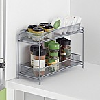 ORG™  2-Tier Mesh Spice Organizer in Silver