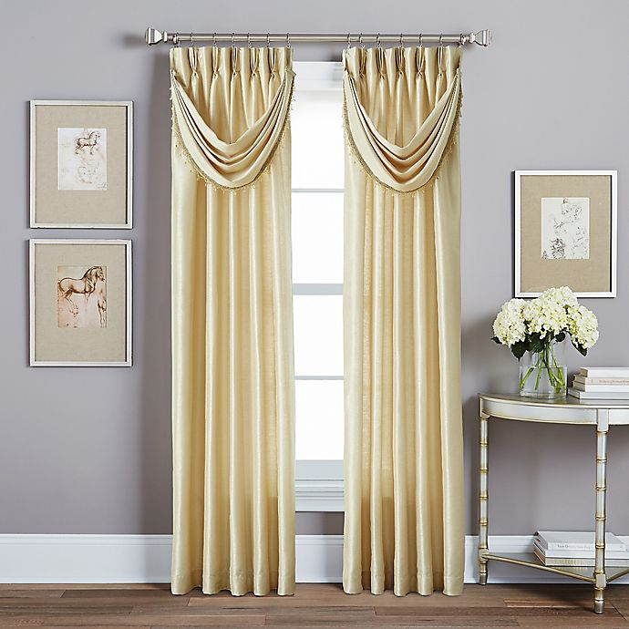Alternate image 1 for Spellbound Pinch-Pleat Window Curtain Panel with Sound Asleep Curtain Liner